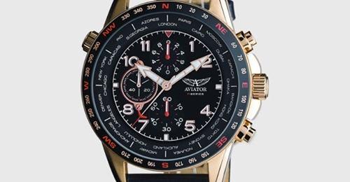 สวยดีถูกด้วย สินค้าป้ายฟ้า Non-Duty Free ส่งบ้านฟรี จาก kingpower  AVIATOR Gents Chronograph Pilot Watch 45mm ลด 63% จาก 5,210.00 THB เหลือ 1,890.00 THB