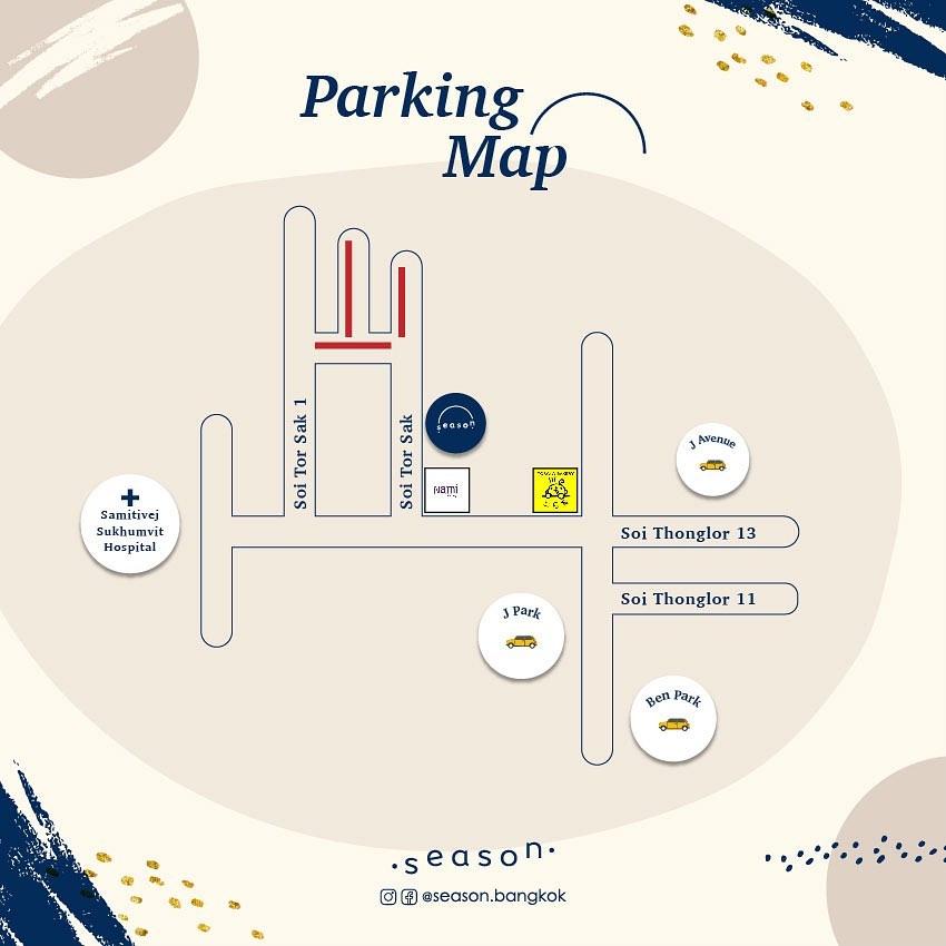แผนที่ร้าน season bangkok